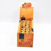 EMS 24box / 1lot 78mm KingSize 192cones / 1box chanvre naturel de 100% fumant le papier de roulement de CONE de cigarette de papier de cône de roulement
