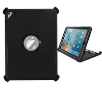 al por mayor caso del iphone de goma en un extremo-Defender para iPad Pro Air2 9.7 2 3 4 Cubierta de armadura híbrida rugosa para iPad mini 1 2 3 4 Cubierta de plástico de silicona para goma de Robot a prueba de golpes