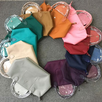 Wholesale Thickened woman leather portable casual waterproof nylon dumpling bag folding Messenger bag