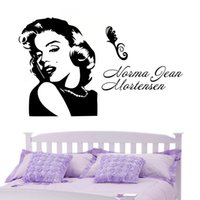 abstract wallpaper backgrounds - 52x87cm PVC Fast delivery custom models Monroe Wall Stickers girl bedroom living room sofa TV background wallpaper