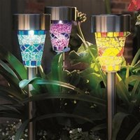 assorted mini lights - Solar Powered Lights Rechargeable Outdoor Garden Decoration Christmas Lamp Mini Blue Purple and Yellow Assorted Mosaic Solar Lighting