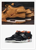 air puppet - 1 quality Air Trainer Victor Cruz for man Wheat yellow black with box