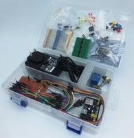 beginner box - Basic Electronics Starter Kit Study box for beginner with sensors V A AC adapror and LEDs elecctronics components in case