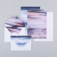 Wholesale Kawaii sheet letter paper envelopes mountains and sea Letter pad Set set writing paper Office School Supplies