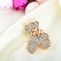 Wholesale 2016 New Han Edition Cute Teddy Bear The New Fashion Clothing Children Brooch Corsage Factory Direct Sale Fashion Animals