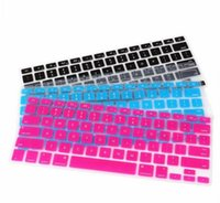 Wholesale Light Blue Rose Red Transparent Black Keyboard Protector US English Cover Keypad Skin Protector For Macbook Pro Air