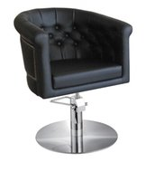 Wholesale Newest hair styling chairs black styling chair comfortable hair salon furniture with cheap price high quality salon equipment