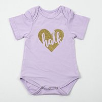 baby shorts patterns - Solid Color Love Pattern Newborn Unisex Baby Clothes Toddler Romper Bodysuit For Months In Stock