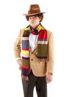 Wholesale New Arrive Dr Doctor Who Scarf Cosplay Fourth th DELUXE Tom Baker Striped Fashion Men Women