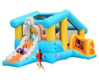 Wholesale residential sport inflatable bouncy house high quality business renting inflatable house bouncer kids garden happy commercial jumping castle