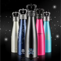 Wholesale Crown Shape Insulation Cup Water Bottle Mug Stainless Steel Insulation Cup Thermos Bottles Bowling Vacuum Cup ALL JOINT AMATHING ML F546
