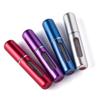 Wholesale 5ML mini refillable perfume atomizer metal aluminum empty perfumes bottle spray travel bottles for cosmetic