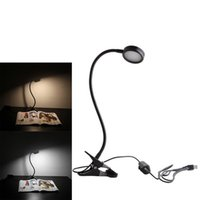 adapter asia - 8W Dimmable LED Desk Lamp Dimmable Light Color Natural Brightest Clip On Light Level Dimmer Book Light with US Adapter