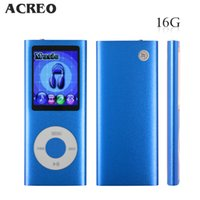 Wholesale 16GB quot LCD Screen Digital MP3 MP4 Music Audio Media Player with FM Radio Blue