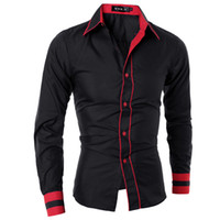 Wholesale Men Shirt Long Sleeve Brand Shirts Casual Male Slim Fit Pure Fashion Chemise Mens Camisas Dress Shirts Men XXL CBSYQWISA