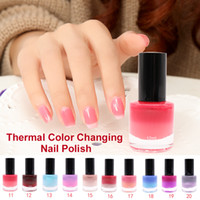 Wholesale Professional Thermal Ml Color Changing Nail Art Cosmetic Party Peel Off Gel Nail Polish Fashion Colors
