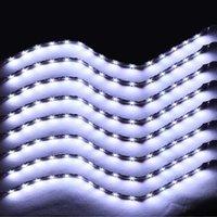Wholesale New x Flexible cm Strip K White Car Motorcycle LED Lights Waterproof V