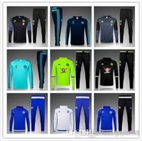 Wholesale 2016 New Top quality Chelsea soccer tracksuit chandal Chelsea football Tracksuit training suit skinny pants Sportsw