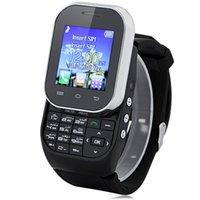 achat en gros de mini-sim double veille-Mini Protable W1 Smartwatch Téléphone Bouton Dual SIM Dual Standby Bluetooth 3.0 Appareil photo Enregistrement sonore FM Music Montre intelligente