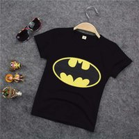 Wholesale Cotton Kids Boys Batman T Shirt Short Sleeve Children Tees Costume Tops clothing
