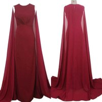 HarveyBridal Tank Top Robes de soirée en mousseline de soie rouge Long Watteau Train Robe de soirée officielle 100%