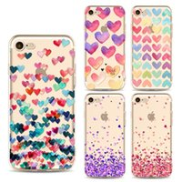 al por mayor caso del amor iphone5-Sweet Love Pintura caso de la cubierta del iphone Claro TPU caso para iPhone6P / 6SP iPhone5 / 5S resistente al impacto caso protector Anti-scratch prueba de choque