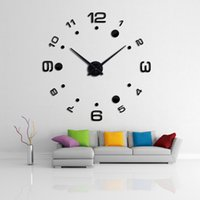 Wholesale new wall clock diy clocks reloj de pared quartz watch europe living room large decorative horloge murale watches stickers
