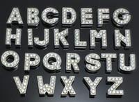 belt number - 8mm Full Rhinestone Slide Letter Charms A Z Number DIY Zinc Alloy Symbol Necklace Bracelet Belt Accessories DHL