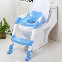 baby training seat - Baby Potty Seat With Ladder Children Toilet Cover Kids Folding Infant Chair Training Portable Pinico Troninho Children sit implement Childre