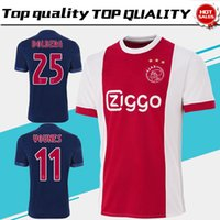 New Ajax home red white Soccer Jersey 17 18 Ajax away blue Soccer Shirt  2018 Customized  10 KLAASSEN  34 NOURI football uniform Size S-4XL ... 1899b57b5