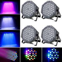 Wholesale 4pcs Sound Active RGB x LED Stage Light DMX512 CH DJ Party Xmas Wedding Par Wash Effect Lighting US Stock