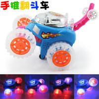 acrobatic rings - Infant Toddler toys electric car turning light hand acrobatics ring rotating children puzzle