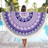 Wholesale Special Round cm Towel Scarve Mandala Tapestry Beach Picnic Throw Rug Blanket Polyester Beach Towel Serviette De Plage Dec05