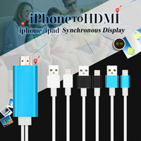 Wholesale 2M High Speed Aluminum HDMI HDTV AV Videl Cable For iPhone S SE S Plus ipad Support HD P connection