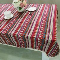 achat en gros de table armée tissu-Nappe à la nouvelle arrivée 2017 pour le dîner Signature Style Tissu en dentelle haute qualité Bohemia style Décoratif Armée Bleu Style Tissu de table