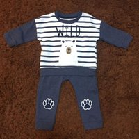 baby bear pattern - Baby Boy Clothing Sets Long Sleeve Tshirt Long Pant Bear Pattern Cute Cotton Infant Children Kids Clothes