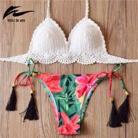 Wholesale 2017 Knitted Swimsuit follwer bikini femme Sexy bikini set Swimwear women summer dress Handmade Swimsuit Brazilian biquini