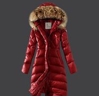 Wholesale New Slim Long Parkas Female Women Winter Coat Thickening Down Cotton Winter Jacket Womens Outwear Parkas for Women Winter fur collar Outwear
