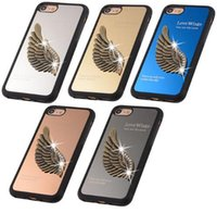 wing mirror - for samsung note Slim Diamond Love Wings Mirror Case For Iphone Hard TPU Back Cover Case For Iphone Plus Inch Protective cover