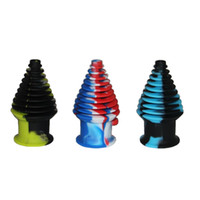 Wholesale 2017 New Design Silicone Mouthpiece Cover Rubber Drip Tip For Glass Bong Silicone Container With Various Color