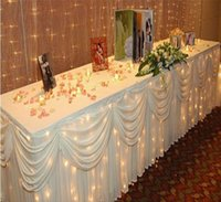 banquet table skirts - ft M M Wedding banquet table skirting White luxury Table Skirt With Swag