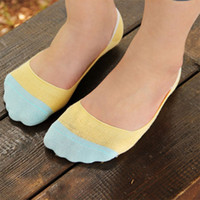 best travel socks - Best seller Four seasons Women Boat Socks Candy colored Silicon Cotton Invisible Sock Slippers for women gift travel