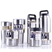 Wholesale YETI Cups Cooler Stainless Steel Rambler Tumbler Cup Car Vehicle Beer Mugs Vacuum Insulated Mug oz oz oz oz oz oz oz gift