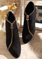 Zip Side Negro de cuero genuino tacones gruesos punta Toe hombres zapatos Men Hombreras Oxfords hombres botas altura mayor de tacón de los hombres