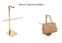 Wholesale 10pcs bag stand display bag display holder rack adjustable metal handbag hanger hooks for handbag display stand