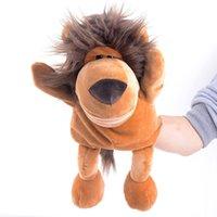 Los regalos animales del juego del padre-niño de la marioneta de mano del león de los marionetas de la mano de la marioneta de la mano de la felpa de los regalos de los cabritos 9
