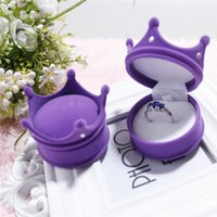 Wholesale 1 pc Hot Sweet Ring Necklace Earring Box Velvet Valentine Gift Display Jewellery Case Wedding Accessories