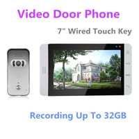 Wholesale Inch Night Vision Digital Video Door Phone Intercom System with TFT LCD Touch Pad Color Monitor Outdoor Camera