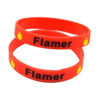 Wholesale 100PCS Ink Filled Colour Flamer Logo Silicon Wristband It Soft And Flexible Great For Normal Day To Day Wear