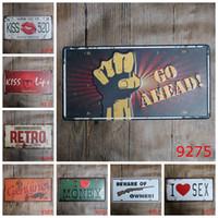 bar owner - Kiss Money Beware of owner Car Metal License Plate Vintage Home Decor Tin Sign Bar Pub Cafe Garage Decorative Metal sign